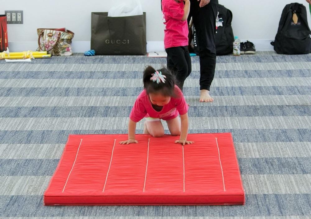 未就園児のマット運動