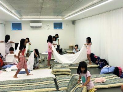 たまプラーザ BLAZERS miniの合宿の布団敷き